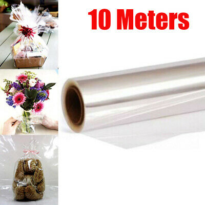 10m Clear Cellophane Wrap Roll For Gift Flower Bouquet Baskets Wrapping Arts • 7.15£