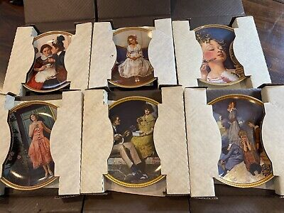 $ CDN50.13 • Buy Norman Rockwell Rediscovered Woman Plates Set Of 6