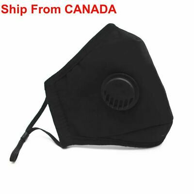 $ CDN19.99 • Buy 2 PACK] Cloth Washable Reusable Face Mask PM 2.5 - Activated Carbon Filter Mask