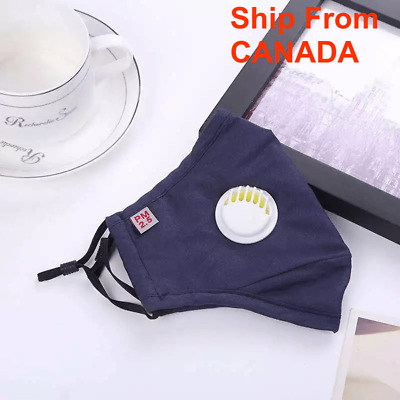 $ CDN14.99 • Buy [2 PACK] Cloth Washable Reusable Face Mask PM 2.5 - Activated Carbon Filter Mask