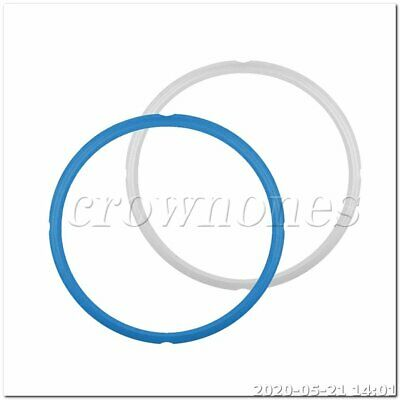 $15.08 • Buy 24*26CM Silicone Instant Pot Sealing Ring 2-Pack - 8 Quart Blue/White