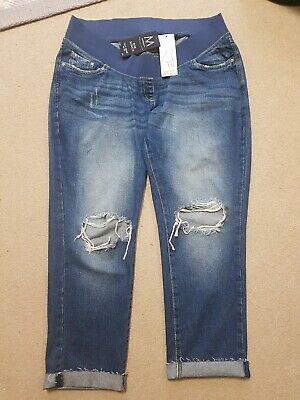 Next Slim Slouch Maternity Over Bump Jersey Panel Jeans Size 12 • 22.99£