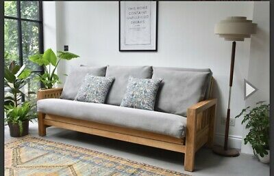 £649.99 • Buy Used Futon Company Sofa Bed - 3 Seater Sofa Bed Solid Oak In Very Good Condition