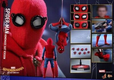 AU550 • Buy Hot Toys MMS 414 Spider-Man - Homecoming: Spider-Man (Homemade Suit)