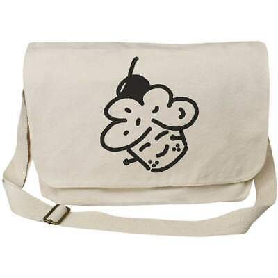 'Cherry Cupcake' Cotton Canvas Messenger Bags (MS026101) • 14.99£