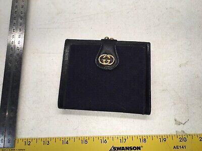 $219.99 • Buy Vintage Authentic Old Gucci Wallet Coin Money Cash Made In Italy Id  Gold Grape