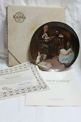 $ CDN5.04 • Buy Norman Rockwell Collector Plate The Storyteller W/box, COA Knowles 1984