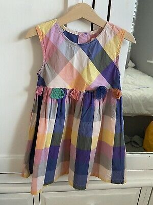 Baby Girls NEXT Multicolour Check Summer Dress - Age 3-4 Years • 3.99£