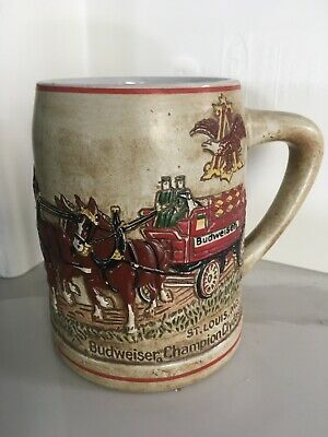 $ CDN58.80 • Buy 1980 Ceramarte Budweiser Beer Stein Mug Clydesdale CS19 1st Holiday Edition