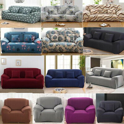 Easy Stretch Couch Sofa Lounge Covers 1 2 3 4 Seater Dining Chair Recliner Cover • 10.99£