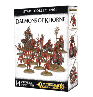 AU132.95 • Buy Start Collecting! Daemons Of Khorne AOS