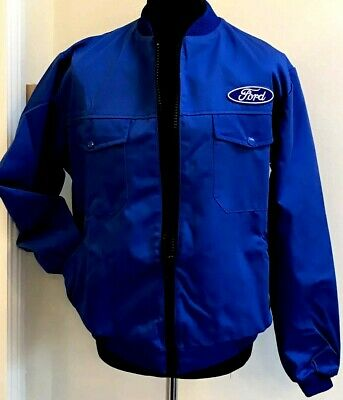 Superb Classic Fully-Lined Ford Badge Bomber Rally Motorsport Jacket 49  Chest • 16£