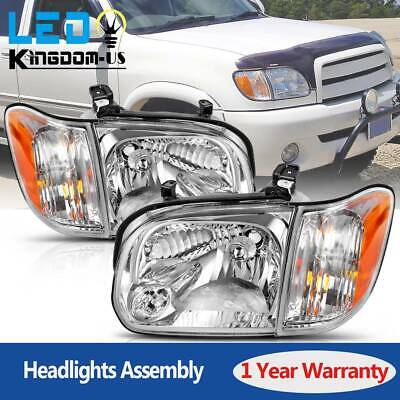 $135.38 • Buy For 2005 2006 Toyota Tundra 05 06 07 Sequoia Headlights Lamps Pair Left+Right