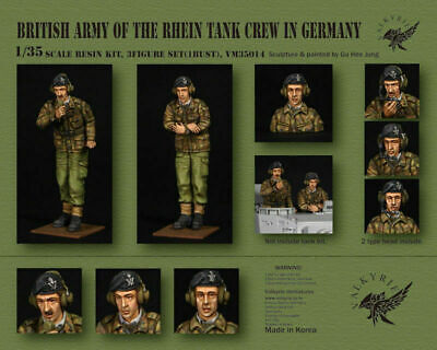 Valkyrie 1/35 Scale Resin Kit British Army Of The Rhine Tank Crew In Germany • 38.99£