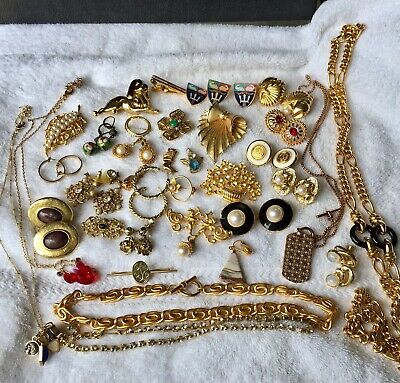 $ CDN13.79 • Buy Vintage To Now Mixed Jewelry Lot - Some Signed