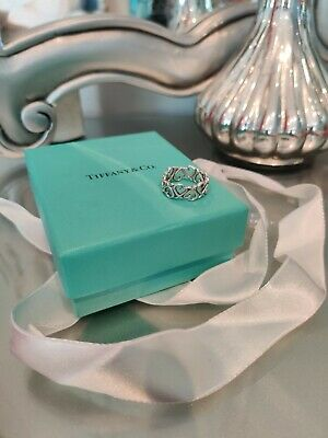 Tiffany & Co Paloma Picasso Loving Heart Band Ring In Sterling Silver • 182£
