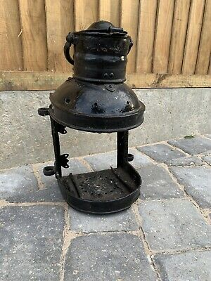 Antique Metal Signal Lamp Frame / Case • 6£