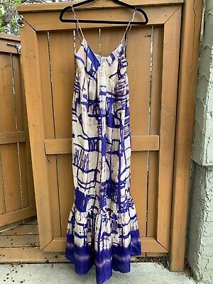 $ CDN98 • Buy Anthropologie 100% Silk Isabelle Sinclair Maxi Dress. NWOT. Size 6. Fully Lined.