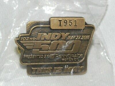 $25 • Buy 2018 102nd Running Indy 500 Pit Badge Pin #T951(Bronze)
