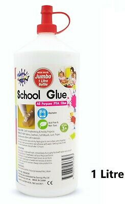 AU6.95 • Buy 1 Litre PVA Glue All Purpose For Slime Make Craft Non Toxic Washable Scrapbook