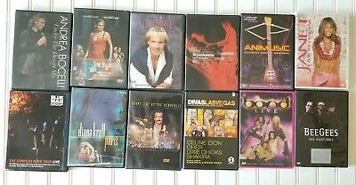 $19.10 • Buy 12 Live Concert And Videos Dvd Lot Collection,Janet Jackson, Andrea Bocelli,etc