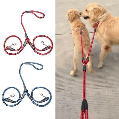 AU12.19 • Buy Double Dog Coupler Twin Lead 2 Way For Two Pet Dogs Walking Leash Safety Chain