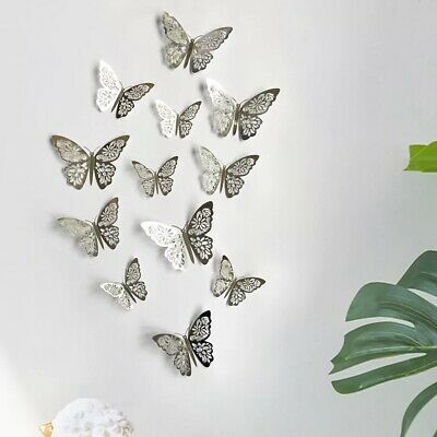 AU6.90 • Buy 12 Pk 3D Butterfly Wall Decals Stickers Removable Kids Nursery Decoration AU