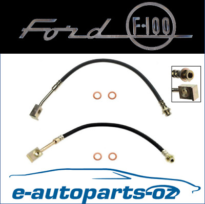 AU77.50 • Buy Ford F100 Front Brake Line Hydraulic Hose Left & Right: 1974 - 1980 2WD Disc