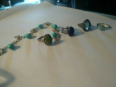 $ CDN31.74 • Buy Lot Of Sterling Silver And Gemstone Lot