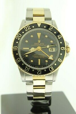 $ CDN16012.72 • Buy Rolex Gmt Master 18k Yellow Gold & Stainless Steel 1675 40mm