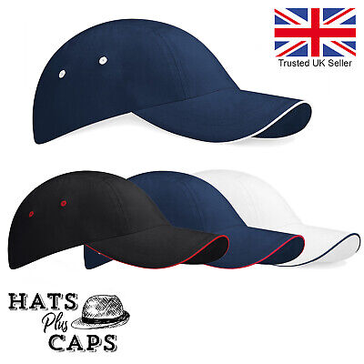 Low Profile Sports Baseball Cap 100% Cotton Fitted Crown Mens Womans Sun Hat • 5.99£