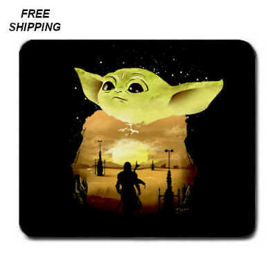 $12.69 • Buy Baby Yoda, Mandalorian, Birthday,Gift, Mouse Pad, Non-Slip,USA, Black