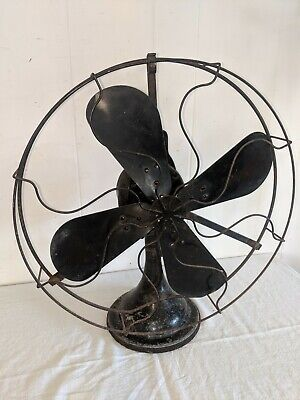 $145 • Buy Large Antique Cast Iron HUNTER Electric Fan  Blades Oscillating