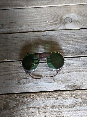 $75 • Buy Vintage American Optical AO Safety Glasses Goggles Leather