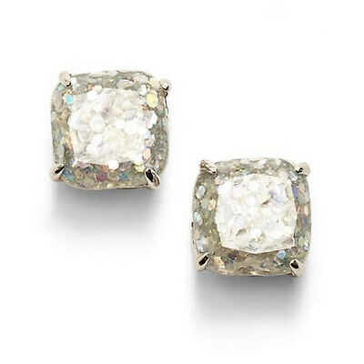 $ CDN35.66 • Buy Nwt Kate Spade Glitter Square Stud Earrings $32 Silver Opal Multi Color Mini