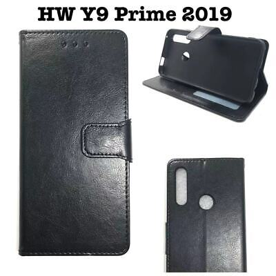 AU12.95 • Buy Black  Stand PU  Leather TPU  In Wallet Case Cover  For Huawei  Y9 Prime 2019