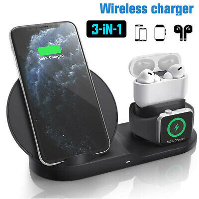 3in1 10W Wireless Charger Charging Dock Station For Apple Watch / IPhone/Air Pod • 17.59£