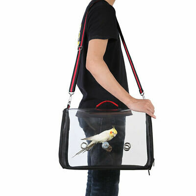 16inch Parrot Bird Carrier Backpack Travel Outdoor Transport Cage Breathable Bag • 17.46£