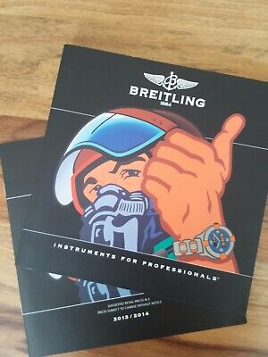 £24 • Buy BREITLING CHRONOLOG 2014 Catalogue Book With 2013/2014 With Price List
