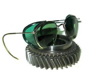 $79.99 • Buy Antique Willson Green Shield Goggles Sunglasses Vtg Old Steampunk Safety Glasses
