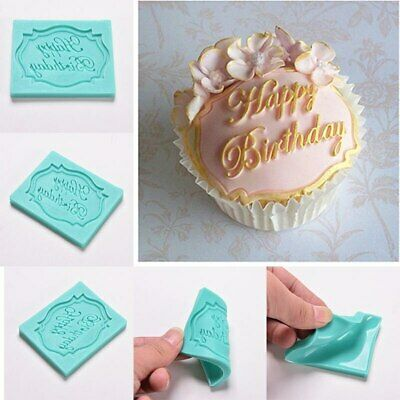 HAPPY BIRTHDAY Silicone Fondant Cake Topper Mold Mould Chocolate Candy Baking 2 • 3.26£
