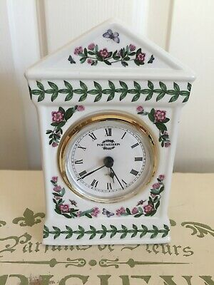 Portmeirion Botanic Garden Mantel Clock With Battery And Working Now • 24.99£
