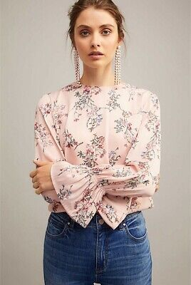 AU13.50 • Buy Witchery Pink Floral Blouse Size 12