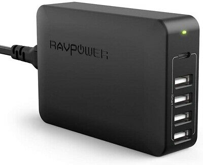 AU55.28 • Buy RAVPower 60W 5-Port USB C PD Port Wall Charger Charging Station AC Power Adapter