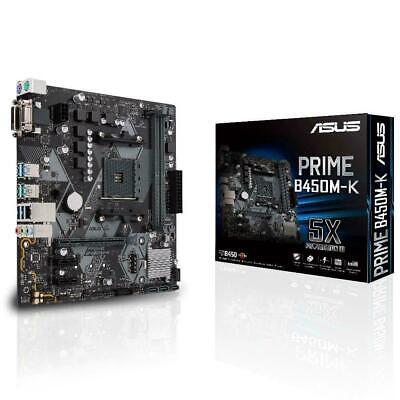 AU155 • Buy Asus PRIME B450M-K AMD AM4 MATX Gaming Motherboard DDR4 M.2 HDMI USB 3.1 VR RDY