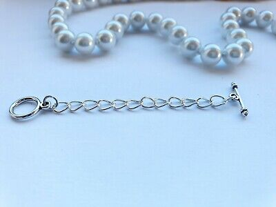 £2.95 • Buy Silver T-bar Toggle Chain Extender Or Extention For Necklace, Bracelet Or Anklet
