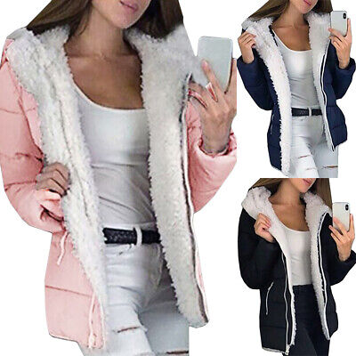 Womens Hooded Jacket Coats Ladies Outerwear Casual Winter Hoodies Parka Overcoat • 24.50£