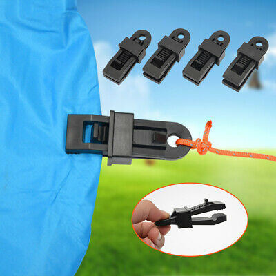 10X Strong Plastic Tent Clips Clamp Camp Hiking Tent Tarp Clip Outdoor Camping • 10.19£