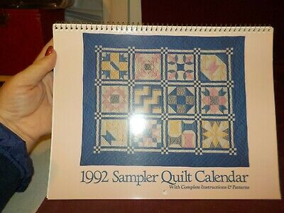 $0.99 • Buy Nice 1992 Sampler Quilt Calendar With Instructions & Patterns By Oxmoor House