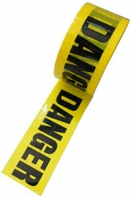 £5.99 • Buy Warning Hazard Barrier Caution Safety Tape Self Adhesive Roll 55mm X 66M UK